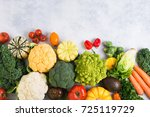 healthy eating  top view of... | Shutterstock . vector #725119729