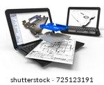 3d render image representing... | Shutterstock . vector #725123191