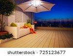 beautiful modern rooftop patio  ... | Shutterstock . vector #725123677