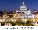 night view of  the vatican dome ... | Shutterstock . vector #725125735