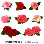 big set of a beautiful colored... | Shutterstock .eps vector #72512617