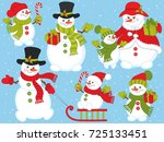 vector christmas and new year... | Shutterstock .eps vector #725133451