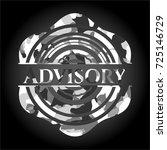 advisory grey camo emblem | Shutterstock .eps vector #725146729