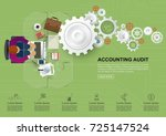 concepts for auditing. auditor... | Shutterstock .eps vector #725147524