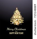 christmas tree greeting card | Shutterstock .eps vector #725148889