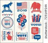 set of patriotic design... | Shutterstock .eps vector #725149144