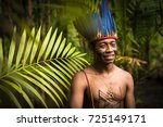 indigenous man from tupi... | Shutterstock . vector #725149171