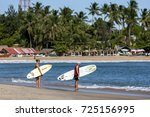 arugam bay  sri lanka   august... | Shutterstock . vector #725156995