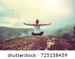 asian women relax in the...   Shutterstock . vector #725158459
