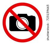 no photography sign | Shutterstock .eps vector #725159665