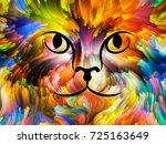 cat paint series. backdrop... | Shutterstock . vector #725163649