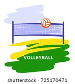 volleyball team  school  club... | Shutterstock .eps vector #725170471