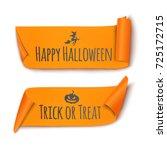 halloween ribbon. vector... | Shutterstock .eps vector #725172715