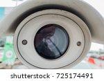 cctv security camera in car... | Shutterstock . vector #725174491