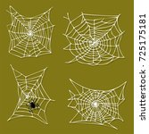 spider web silhouette arachnid... | Shutterstock .eps vector #725175181