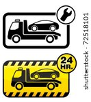 roadside assistance car towing... | Shutterstock .eps vector #72518101