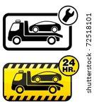 roadside assistance car towing... | Shutterstock .eps vector #72518101