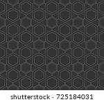 decorative wallpaper design in... | Shutterstock . vector #725184031