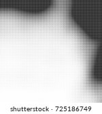 halftone black and white.... | Shutterstock .eps vector #725186749