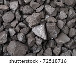 Closeup of black coal lumps - stock photo