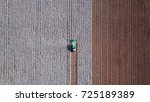 aerial view of a large green... | Shutterstock . vector #725189389