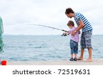 young father and his son... | Shutterstock . vector #72519631