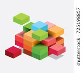 business puzzle | Shutterstock .eps vector #725198857