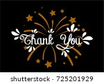 thank you  beautiful greeting... | Shutterstock .eps vector #725201929