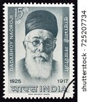 india   circa 1963  a stamp... | Shutterstock . vector #725207734