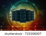 3d rendering database storage... | Shutterstock . vector #725208307