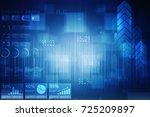 2d digital abstract business... | Shutterstock . vector #725209897