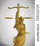 lady justice in gold without... | Shutterstock . vector #725212729