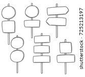 vector set of direction post | Shutterstock .eps vector #725213197
