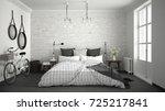 white and gray modern bedroom... | Shutterstock . vector #725217841