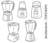 vector set of blenders | Shutterstock .eps vector #725218291