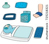vector set of cold pack | Shutterstock .eps vector #725218321