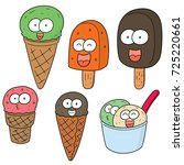 vector set of ice cream | Shutterstock .eps vector #725220661