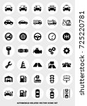 car related icon set | Shutterstock .eps vector #725220781