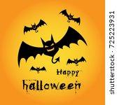happy halloween. vector... | Shutterstock .eps vector #725223931