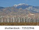 Wind Turbine Farm Located On...