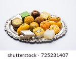 stock photo of indian sweets... | Shutterstock . vector #725231407