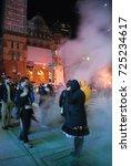 nuit blanche 2017   people in... | Shutterstock . vector #725234617