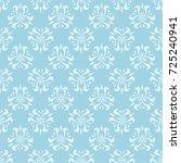 white floral pattern on blue... | Shutterstock .eps vector #725240941