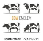 vector set of a stylish spotted ... | Shutterstock .eps vector #725243044