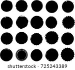 grunge post stamps collection ... | Shutterstock .eps vector #725243389