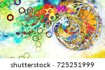astrological symbol zodiac.... | Shutterstock . vector #725251999