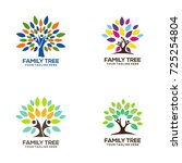 family tree concept icon logo... | Shutterstock .eps vector #725254804
