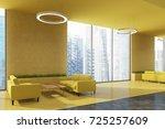corner of an office waiting... | Shutterstock . vector #725257609