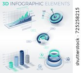 3d infographic elements | Shutterstock .eps vector #725258215