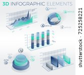 3d infographic elements | Shutterstock .eps vector #725258221
